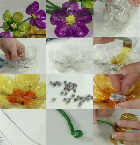 fiori con bottiglie pi 249 di 25 fantastiche idee su fiori di plastica su