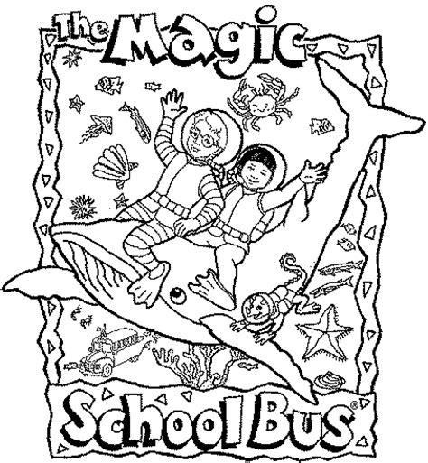 Magic School Bus Coloring Page Coloring Home Magic School Coloring Pages