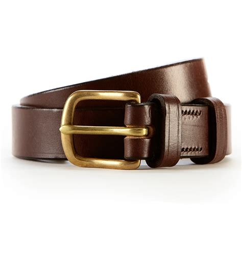 sunspel leather belt in brown for lyst
