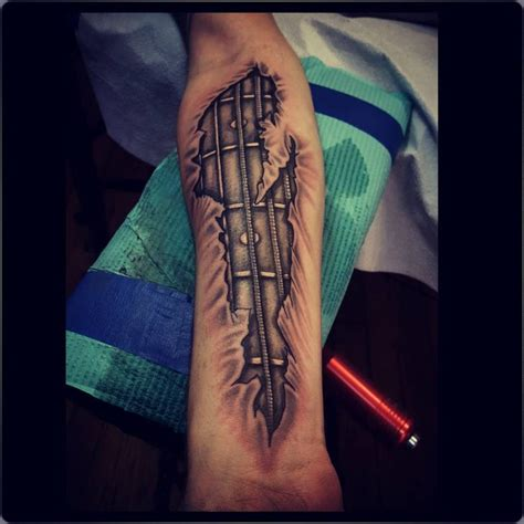 tattoo guitar neck 24 cool guitar tattoo designs best tattoo ideas gallery