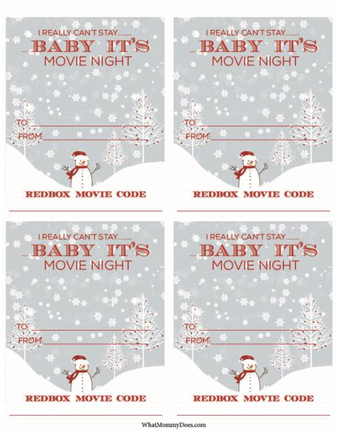 printable redbox gift tags cute redbox neighbor christmas gift idea what mommy does