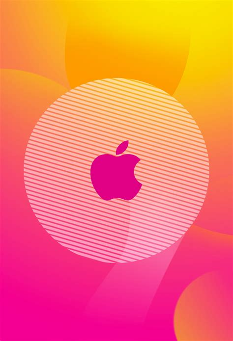 pink themes for iphone orange and pink theme apple logo iphone hd wallpapers