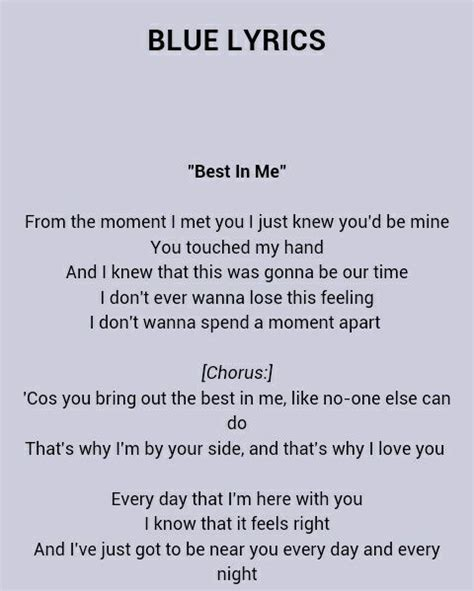 best part lyrics artinya my favorite song best in me blue wattpad