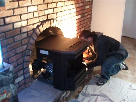 Pellet Stove Fireplace Insert Installation by Pellet Stove Chimney Liner Installation Fireplaces