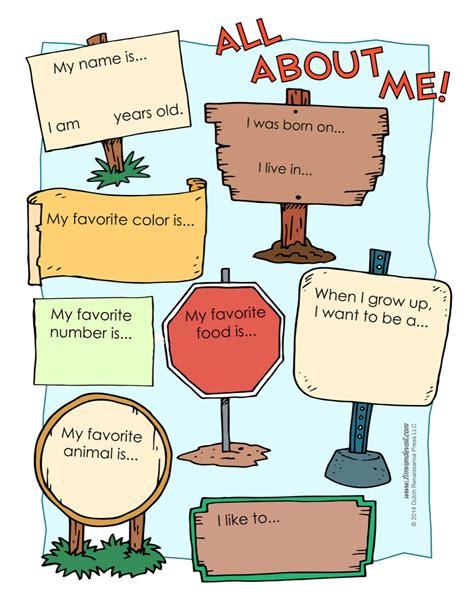printable worksheet all about me printable worksheet tim s printables