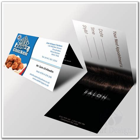 Folded Business Card Template Uk by Contemporary Folded Business Card Template Ensign