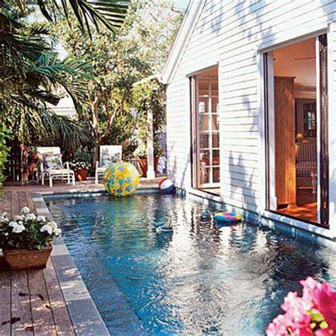 Small Pool House 25 Fabulous Small Backyard Designs With Swimming Pool