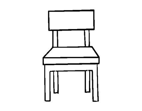 pintar comedor dibujo de una silla de comedor para colorear dibujos net
