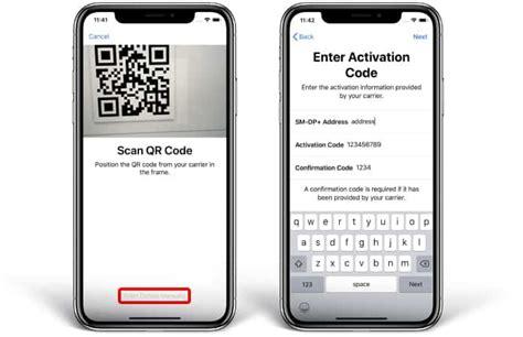 add activate   esim  iphone xs max xs  xr