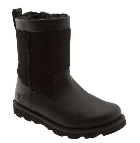 black ugg boots ugg wrangel boot in black for black black lyst