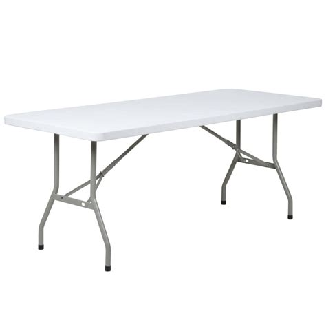 retractable table folding table 30 quot x 72 quot heavy duty plastic white granite