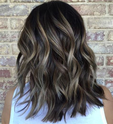 how to balayage med layered dark brown 80 sensational medium length haircuts for thick hair in 2018