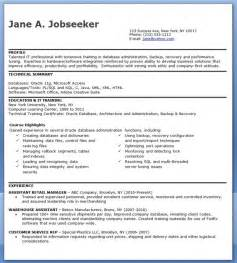 dba resume format database administrator resume entry level resume downloads