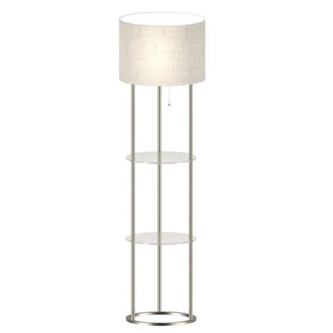 shelf floor l with shade adesso 61 in shelf floor l with glass shelves af42889