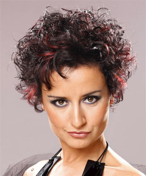 curly hairstyles casual short curly casual hairstyle dark brunette