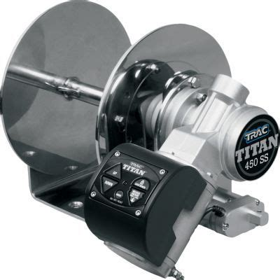 boat drum winch installation trac titan 450 ss drum winch and anchor rode stainless