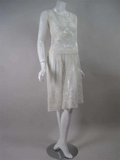 Dress Of The Day White Hoodie Dress Styledash by 1920 S White Net Dress With Embroidery At 1stdibs