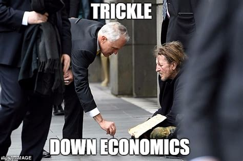 Economics Meme - trickle down economics in a picture imgflip