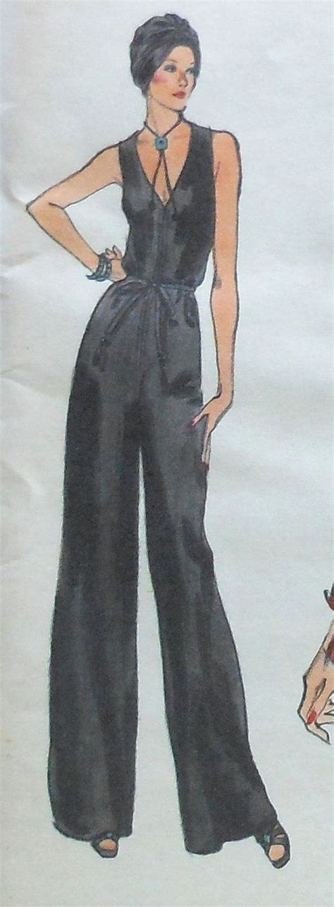 jumpsuit pattern vogue vintage vogue jumpsuit and jacket sewing pattern uncut