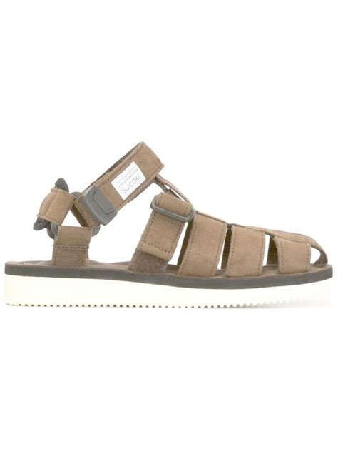 brown ankle sandals suicoke ankle sandals in brown lyst