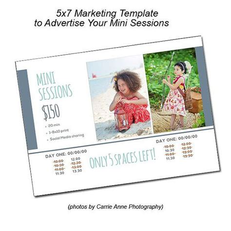 Open Office 5x7 Flat Card Templates by 19 Best Photog Templates Images On Photography