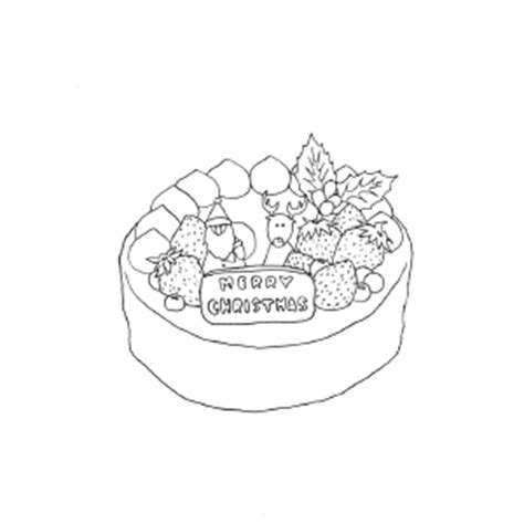 christmas cake coloring pages christmas cake coloring page
