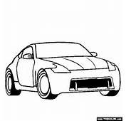 Nissan 370Z Coloring Page  Free Online