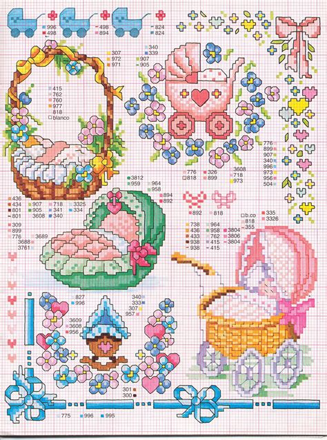 Free Birth And Records Cradle And Baby Carriage Free Cross Stitch Patterns For Birth Records Free Cross