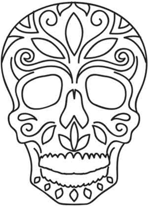day of the dead skull template dia de los muertos skull threads unique and