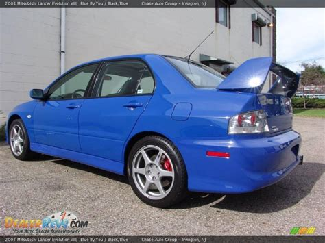 blue mitsubishi lancer 2003 mitsubishi lancer evolution viii blue by you black