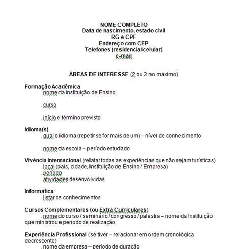 Modelo Curriculum Vitae España 2015 Curriculos Para Imprimir Modelos E Programas Para Criar