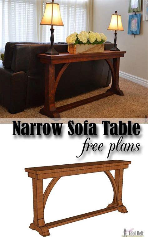 diy narrow sofa table free diy plans to build a stylish narrow sofa table for ab