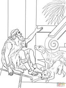 lazarus and the rich man coloring page free printable