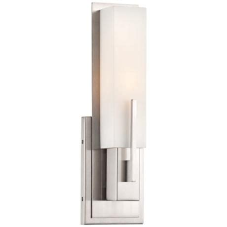 Possini Vanity Lighting Possini Midtown 15 Quot High Satin Nickel Wall Sconce Satin Sconces And Wall Sconces