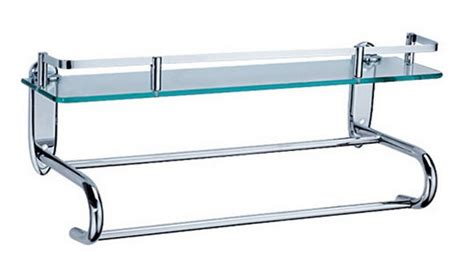 Glass Bathroom Shelves With Towel Bar China Bathroom Glass Shelf With Towel Bar Mb16 China Towel Rack Towel Bar