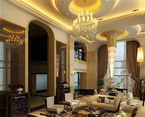 luxury living room design luxury villa living dining room ceiling stairs 3d house