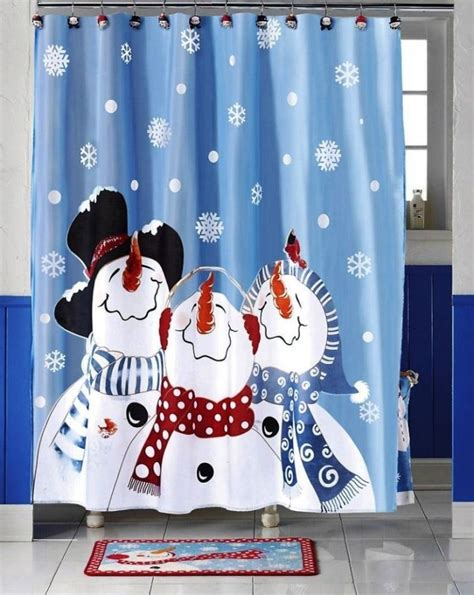 snowman shower curtains kids shower curtain ideas cool bathrooms decozilla