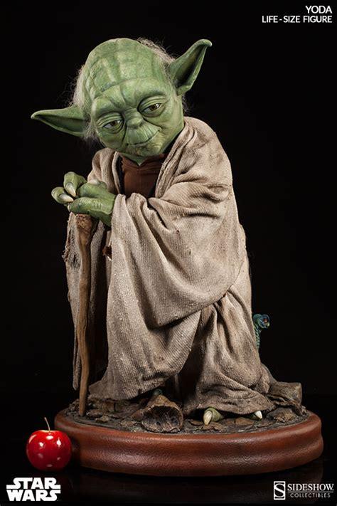 figure yoda size yoda statue sideshow collectibles