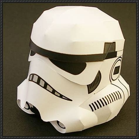 Stormtrooper Papercraft Helmet - papercraftsquare new paper craft wars