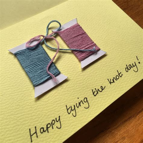 Handmade Wedding Card Designs - handmade tying the knot wedding card