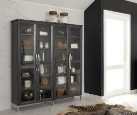 Glass Storage Cabinet Bathroom Storage Cabinet With Glass Doors Decora