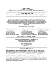 registered resume sle template
