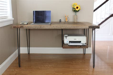 Ana White Reclaimed Modern Desk Diy Projects Diy Modern Desk