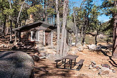 Hualapai Cabins by Cabin Number One Hualapai Mountain Park Stock Photo