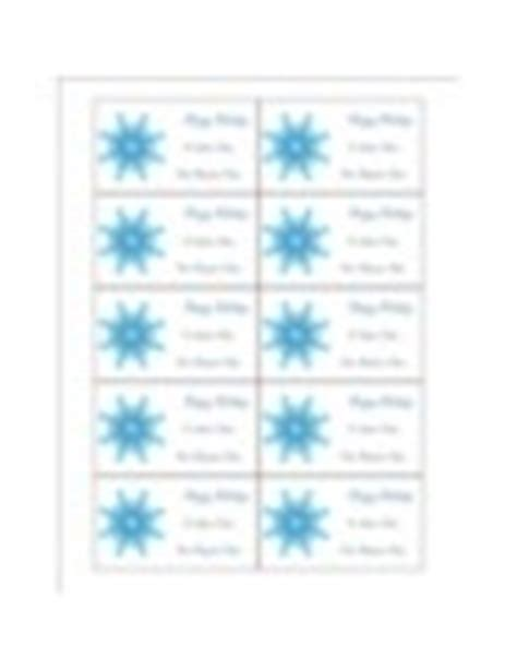 avery template 5376 templates snowflake gift tags on business cards 10 per