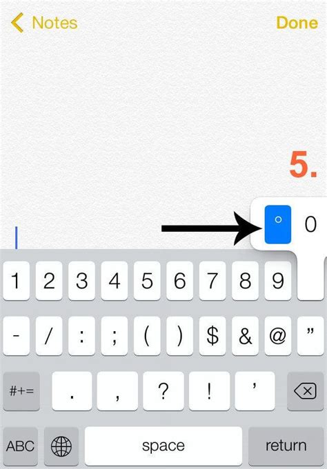 Key Combination For Degree Symbol