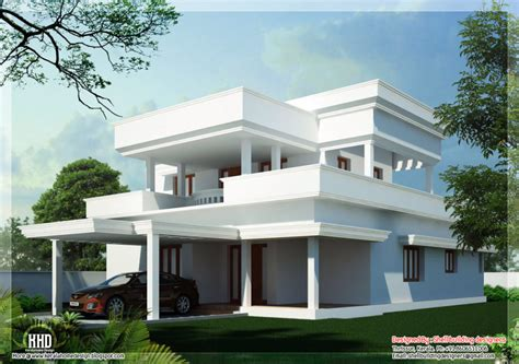 home design sqfeet beautiful flat roof home design indian