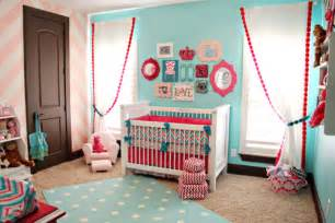 Contrast of the soft pink chevron wall to the super bright pink and