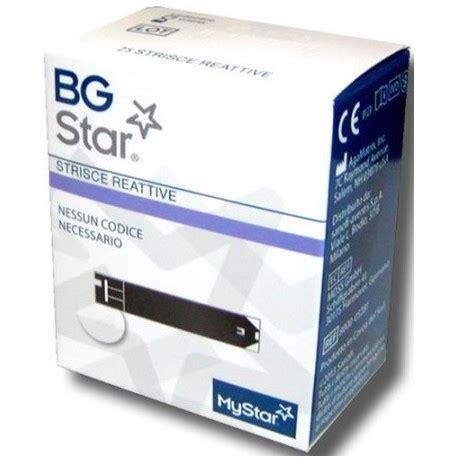 test glicemia bgstar mystar 25 strisce reattive glicemia