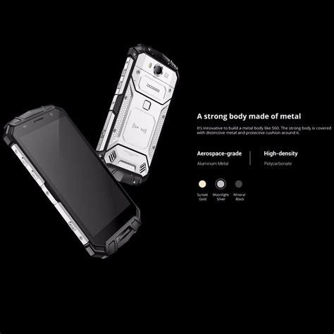 upcoming rugged smartphones doogee s60 tough rugged android 7 0 octa 1080p 6gb ram 21mp 4g 64gb rom